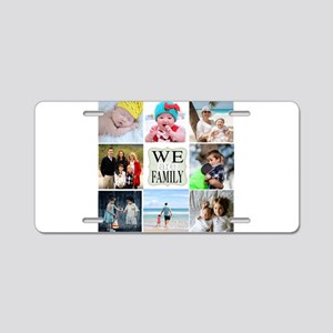 Custom Family Photo Collage Aluminum License Plate