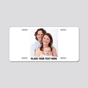 Photo Text Personalized Aluminum License Plate