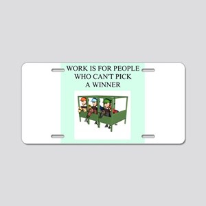 horse racing gifts t-shirts Aluminum License Plate