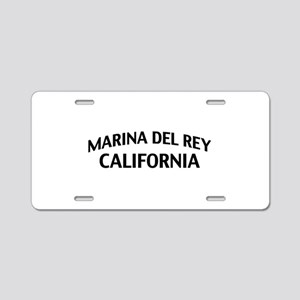 Marina del Rey California Aluminum License Plate