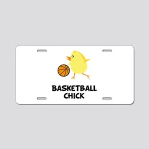 Basketball Chick Aluminum License Plate