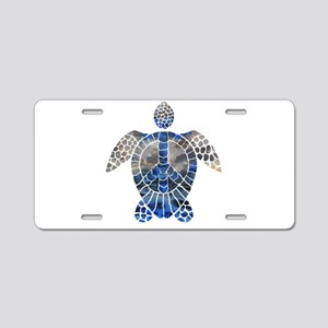 Sea Turtle Peace Aluminum License Plate