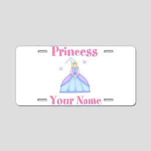 Blond Princess Personalized Aluminum License Plate