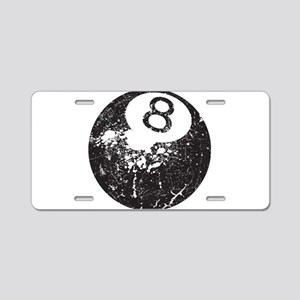 8 Ball Aluminum License Plate