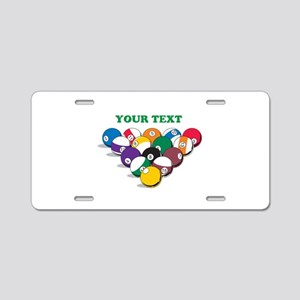 Personalized Billiard Balls Aluminum License Plate