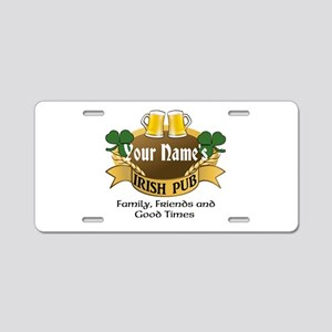Personalized Name Irish Pub Aluminum License Plate
