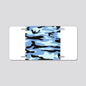 Light Blue Army Camo Aluminum License Plate