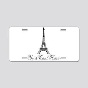 Personalizable Eiffel Tower Aluminum License Plate