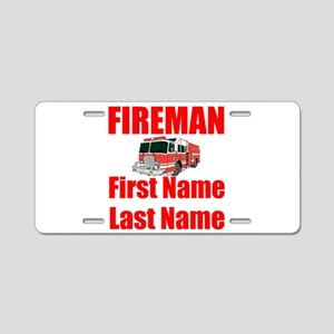 Fireman Aluminum License Plate