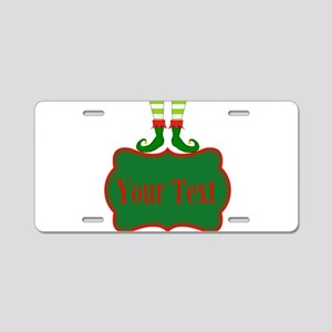 Personalizable Christmas Elf Feet Aluminum License