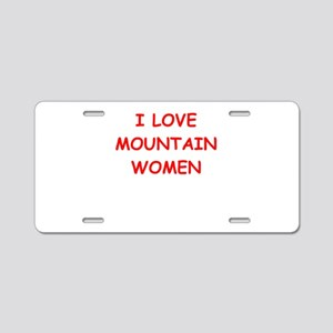 Double Meaning Aluminum License Plates - CafePress