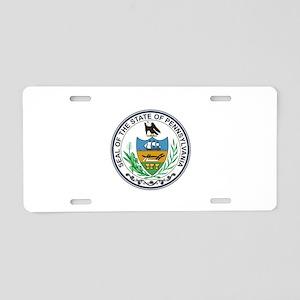 Pennsylvania State Seal Aluminum License Plates - CafePress