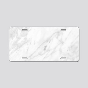 White Marble Aluminum License Plate