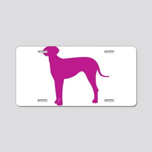 Italian greyhound dog silho Aluminum License Plate