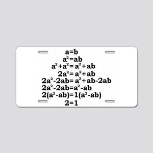 math genius Aluminum License Plate