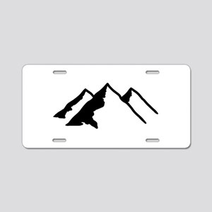 Mountains Aluminum License Plate