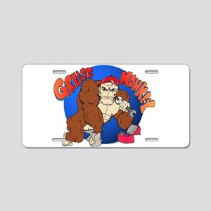 Grease Monkey Aluminum License Plate