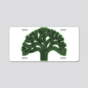 Oakland Tree Hazed Green Aluminum License Plate