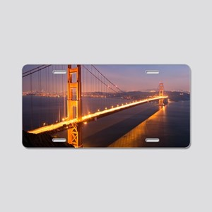 9x12_FramedPanelPrint_night Aluminum License Plate