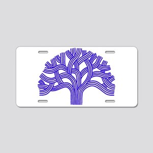 Oakland Tree Blue Aluminum License Plate