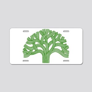 Oakland Tree Green Aluminum License Plate