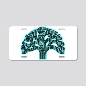 Oakland Tree Hazed Teal Aluminum License Plate