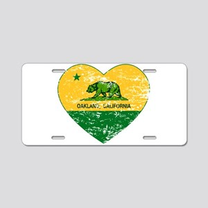 Oakland California green and yellow heart Aluminum