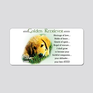 Heritage of Love_Golden Puppy Aluminum License Pla