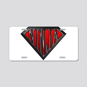 Super Ninja(Black) Aluminum License Plate