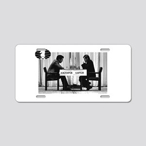 World Chess Champions Karpo Aluminum License Plate