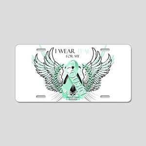 I Wear Teal for my Cousin Aluminum License Plate