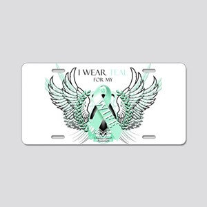 I Wear Teal for my Wife Aluminum License Plate
