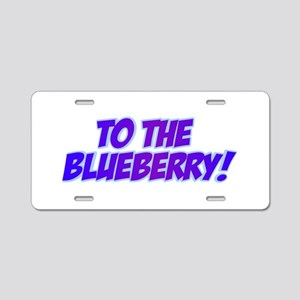 Psych, Blueberry! Aluminum License Plate