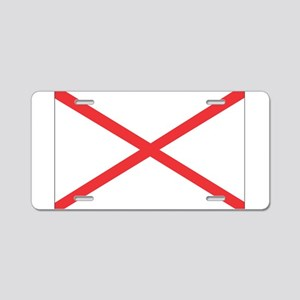 Alabama State Flag Aluminum License Plate