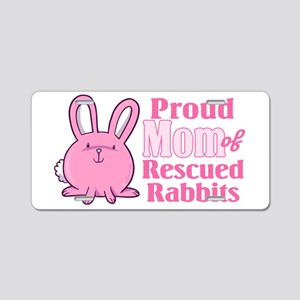 Rescued Rabbits Mom Aluminum License Plate