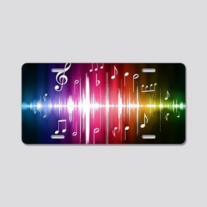 Musical Note Aluminum License Plate