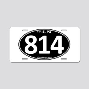 Black Erie, PA 814 Aluminum License Plate