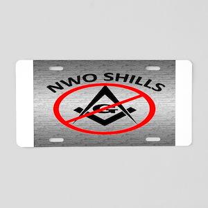 Anti Nwo Aluminum License Plates - CafePress
