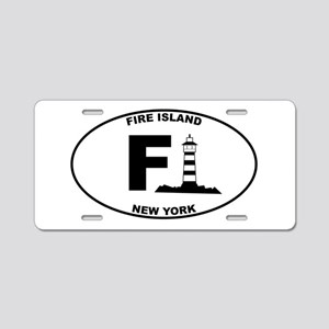 Fire Island Lighthouse Aluminum License Plate