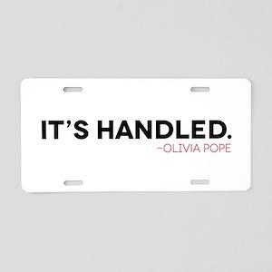 It's Handled. Scandal Aluminum License Plate