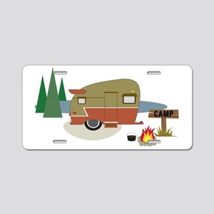 Camping Trailer Aluminum License Plate