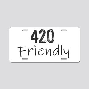 420 Friendly Aluminum License Plate