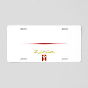 Fairbanks Script B Aluminum License Plate