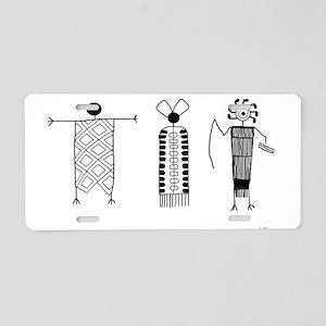 Petroglyph People Aluminum License Plate