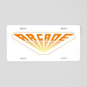 Arcade Aluminum License Plate
