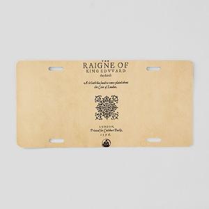 Quarto-King-Edward-III Aluminum License Plate