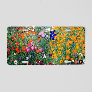 Klimt Flowers Beach Aluminum License Plate