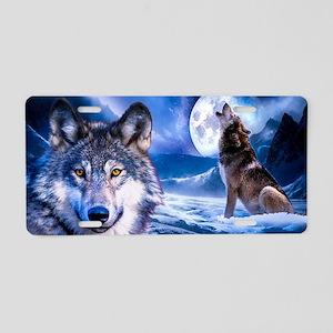 Wolf decor Aluminum License Plate