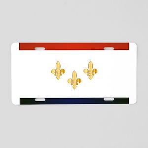 New Orleans City Flag Aluminum License Plate