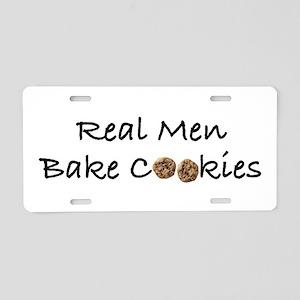 Real Men Bake Cookies Aluminum License Plate